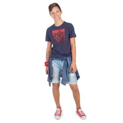 Camiseta Juvenil Masculina Iron Man Cativa - GRAFITE - 14