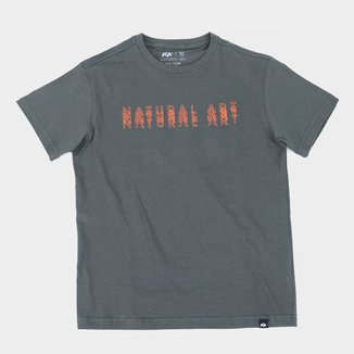 Camiseta Juvenil Natural Art Logo Slim