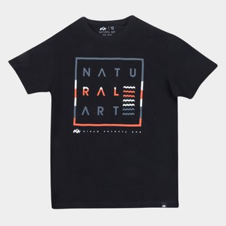 Camiseta Juvenil Natural Art Zig Zag Waves