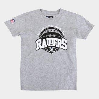 Camiseta Juvenil NFL Las Vegas Raiders New Era Masculina