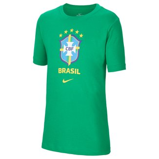 Camiseta Juvenil Nike Seleção Brasil Evergreen Crest