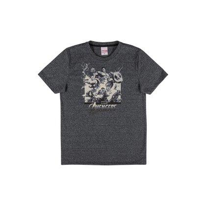 Camiseta Juvenil Vingadores Marvel Cativa - PRETO - 14