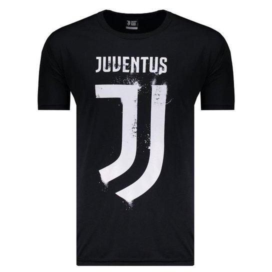 Camiseta Juventus Clube Dry Masculina - Preto