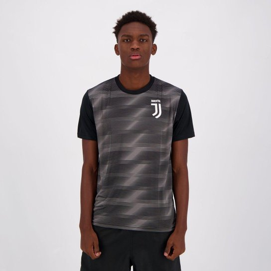 Camiseta Juventus Effect Masculina - Preto