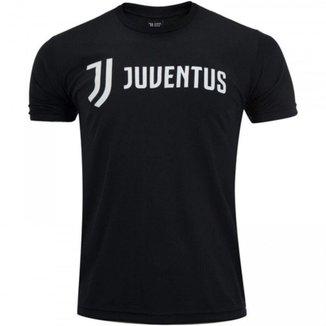 Camiseta Juventus Preta Football Manga Curta Masculina
