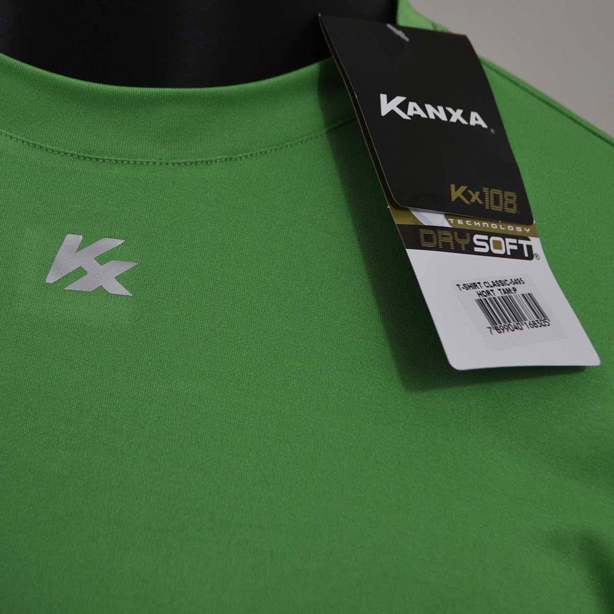 Camiseta Kanxa Classic Microfibra de Poliéster - Verde claro ... 96d6725583507