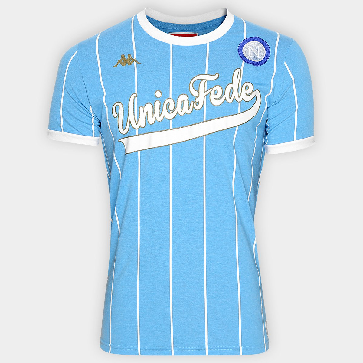 Camiseta Kappa Napoli Supporter I Sublimada - Compre Agora  d683730383eb9