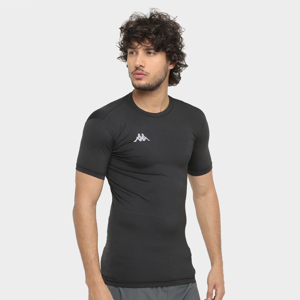 Camiseta Kappa Térmica Embrace Masculina - Preto - Compre Agora ... b2c9c9490bfb3
