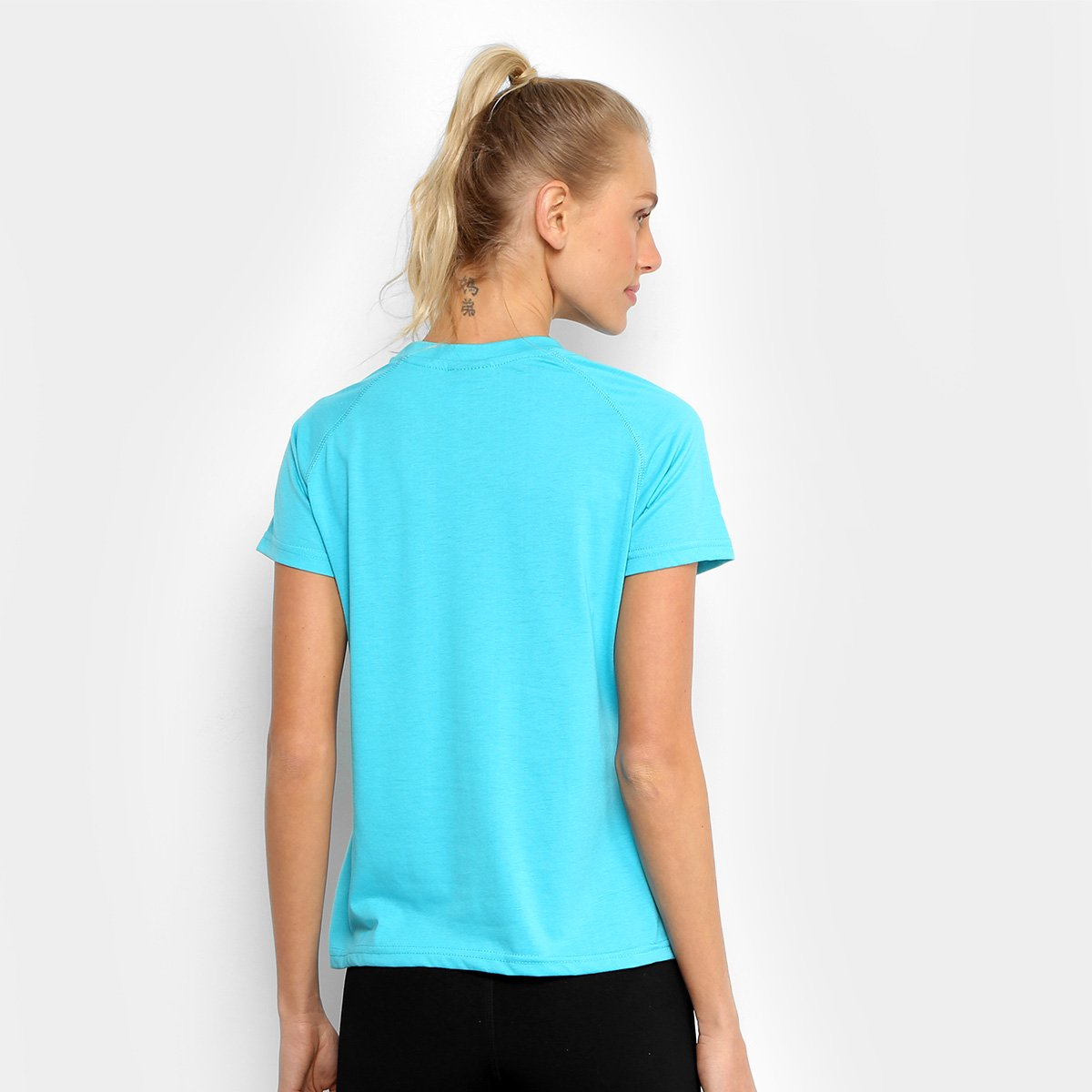 Turquesa Feminina Camiseta Azul Kappa Verona Kappa Camiseta wzqP60H