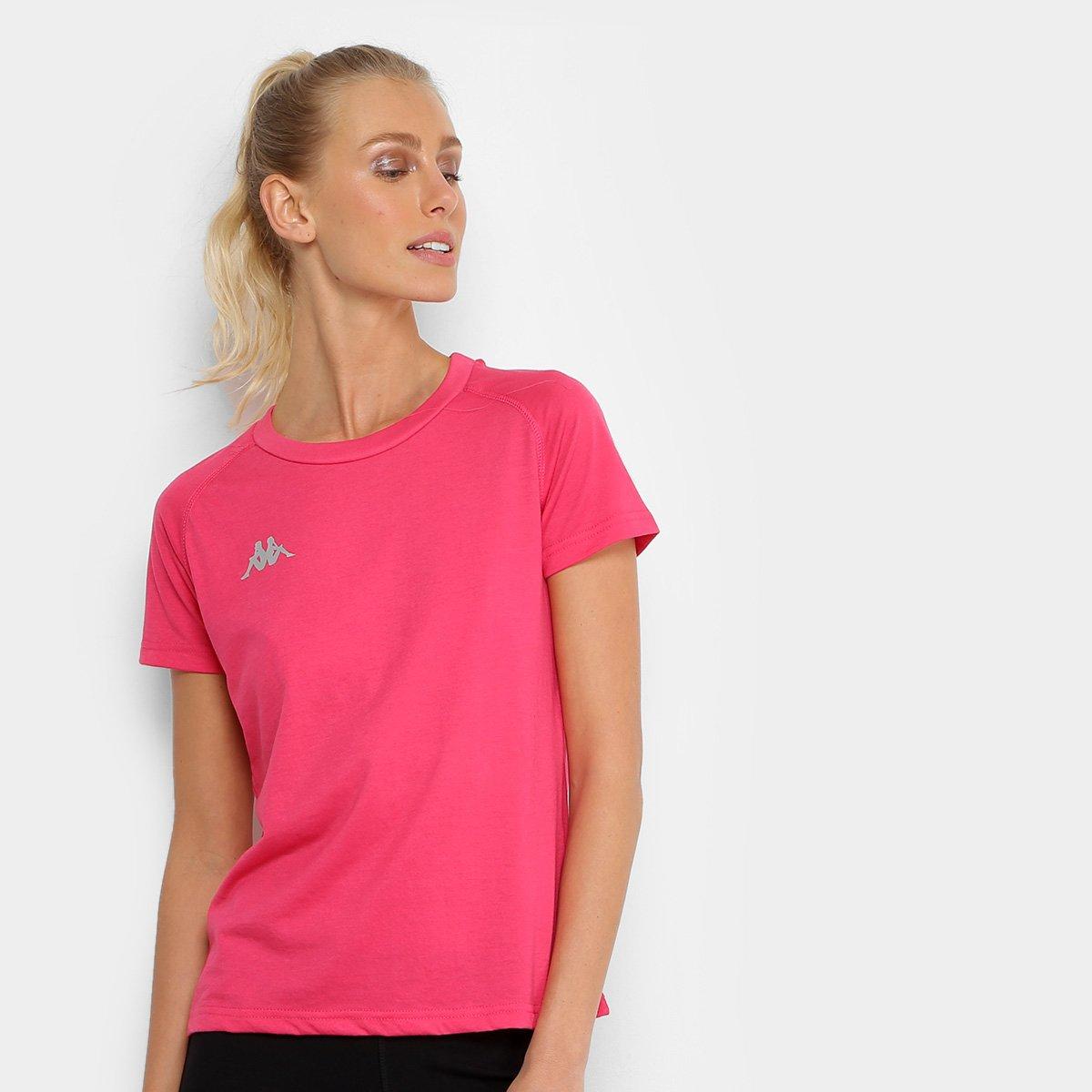 Kappa e Feminina Preto Verona Rosa Camiseta Verona Camiseta Kappa zwgqStx