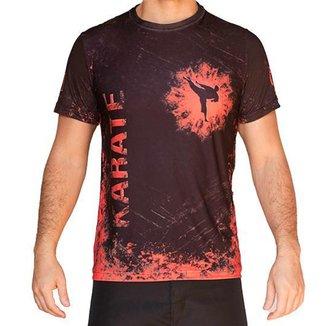 Camiseta Karate Verm. e Preta