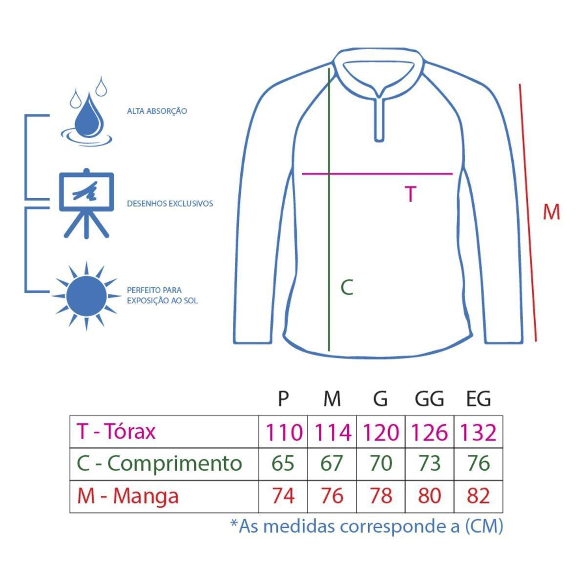 Camiseta King Brasil Sublimada Proteção UV 50+ Masculina - Compre ... 2e83c85623aa9