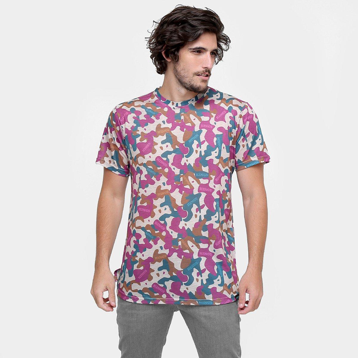 Camiseta Kings Oversized Camuflada Fraudada - Compre Agora  9554f9a7989