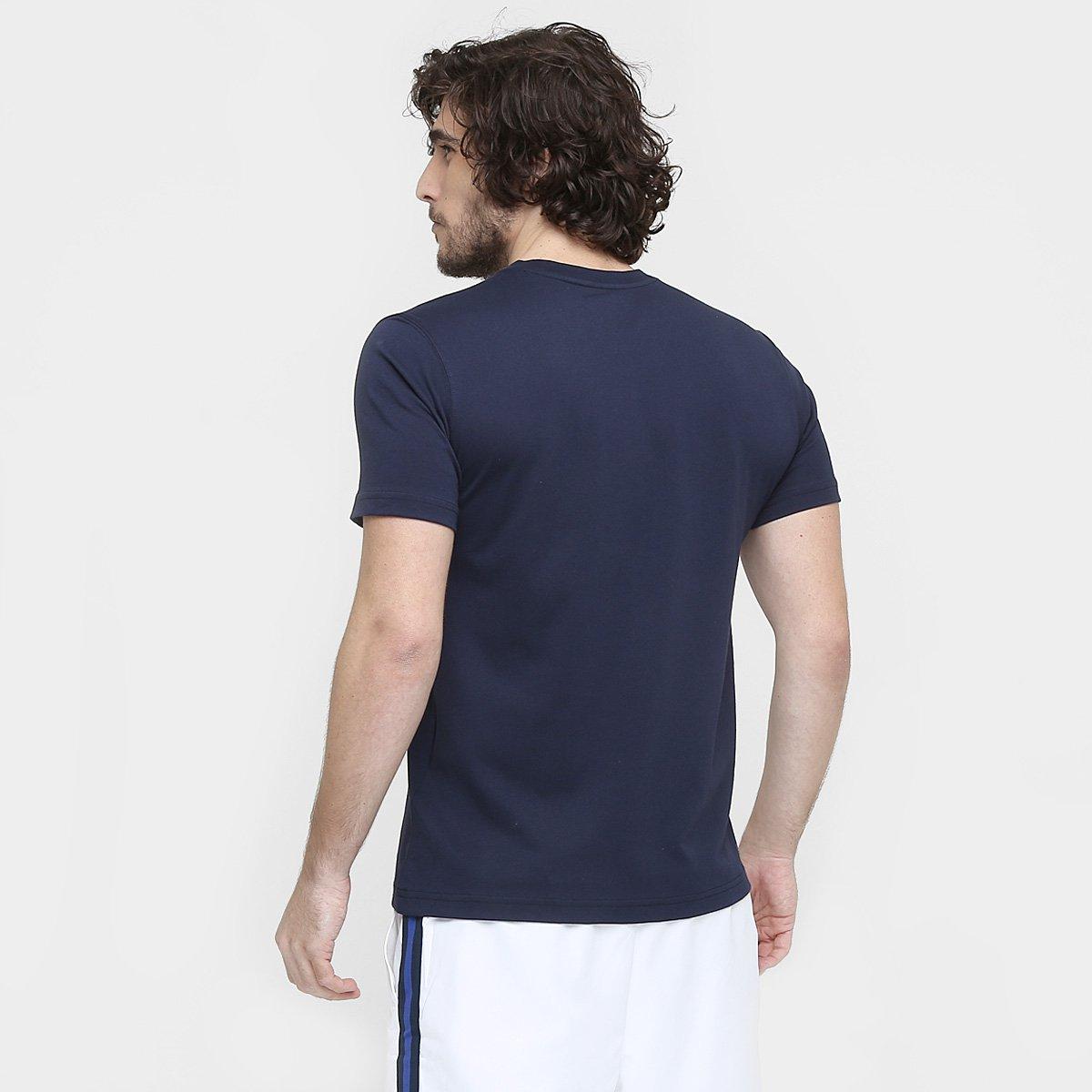 Camiseta Lacoste Gola Careca  Camiseta Lacoste Gola Careca ... 858eaabaa466b