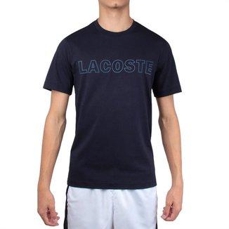 Camiseta Lacoste Lettering TH4465 Marinho