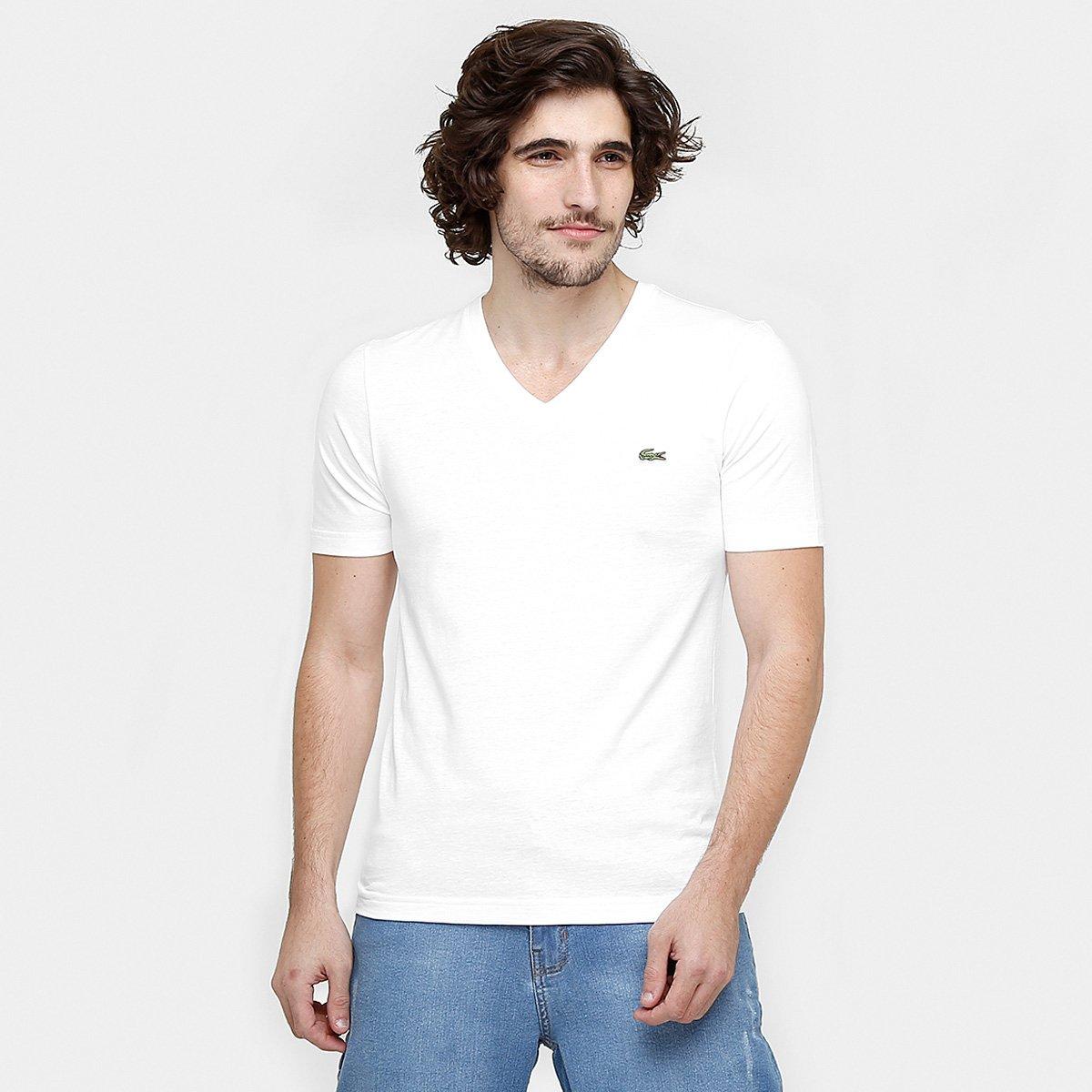 cd0c2c420da Camiseta Lacoste Lisa Gola V - Compre Agora