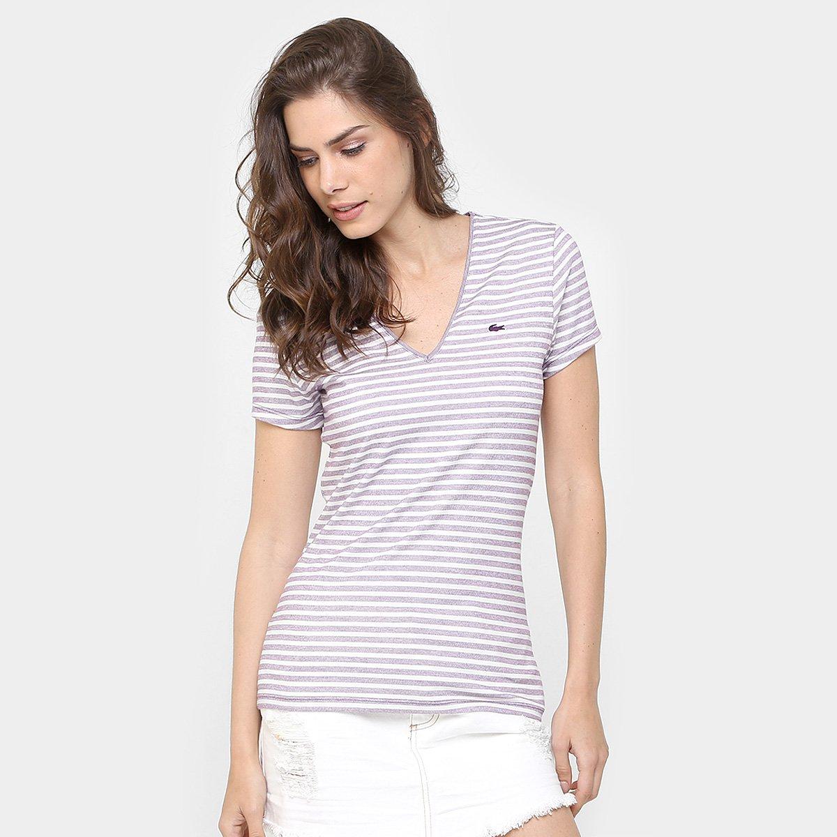 013d5f38a86b4 Camiseta Lacoste Listrada - Compre Agora   Netshoes