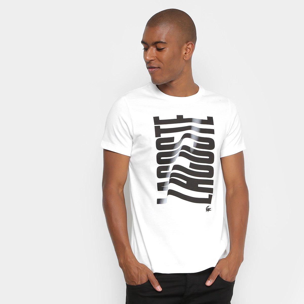 b7344028013 Camiseta Lacoste Logo Masculina - Compre Agora