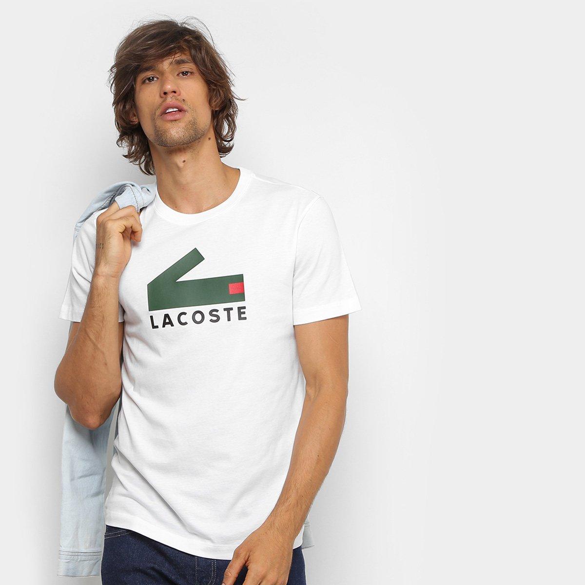 7dc9b4ac299db Camiseta Lacoste New Croco Masculina - Compre Agora