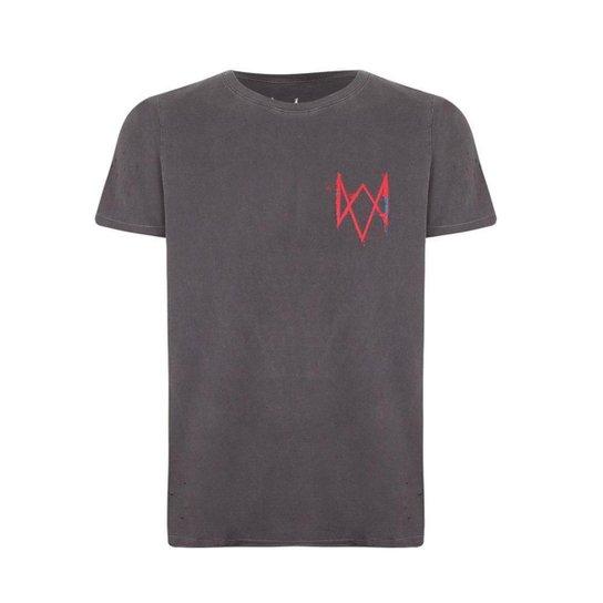 Camiseta Ldn Watch dogs Ubisoft Masculina - Preto