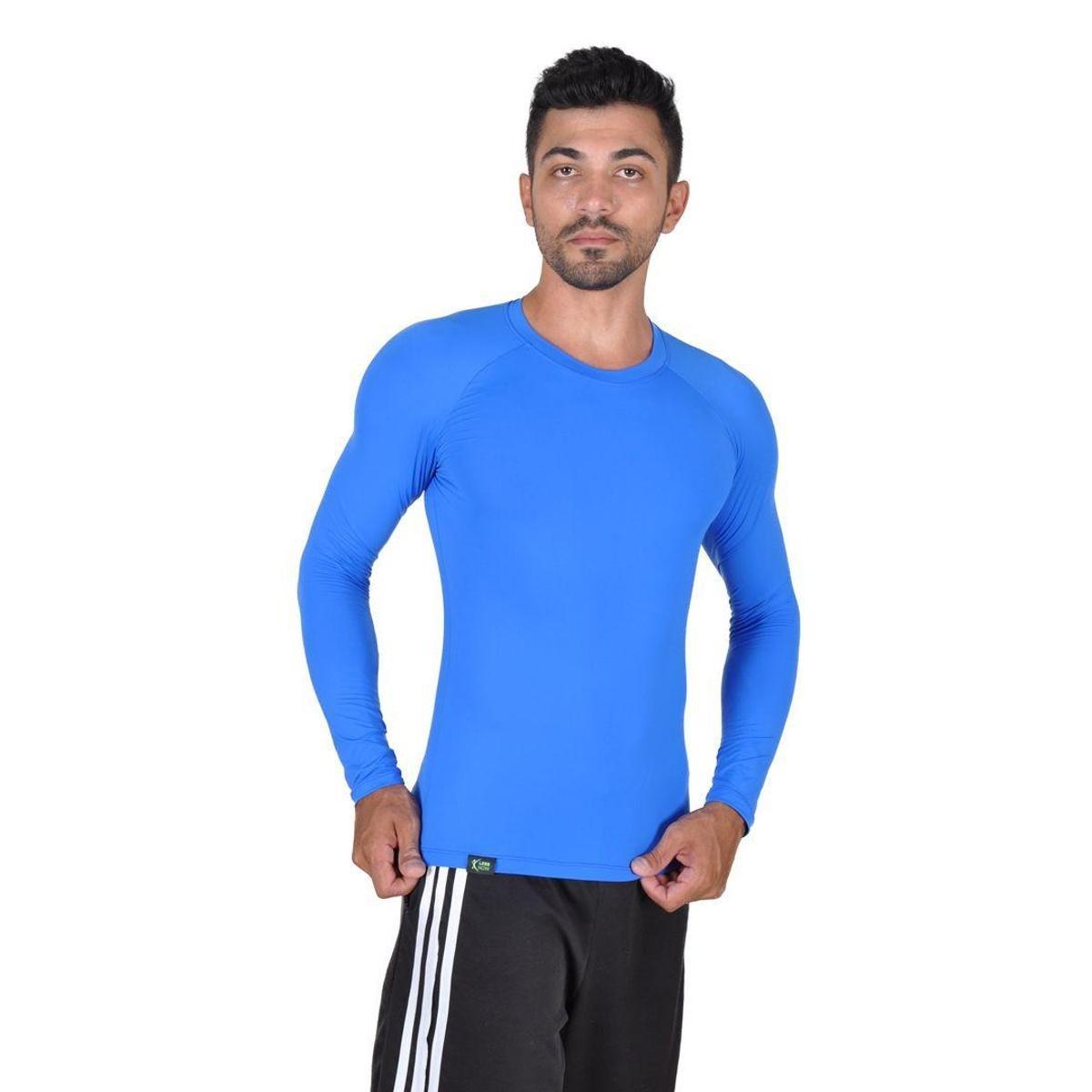 2eacf8010b065 Camiseta Less Now Fator Proteção Solar 50 Uva uvb Masculina - Azul - Compre  Agora