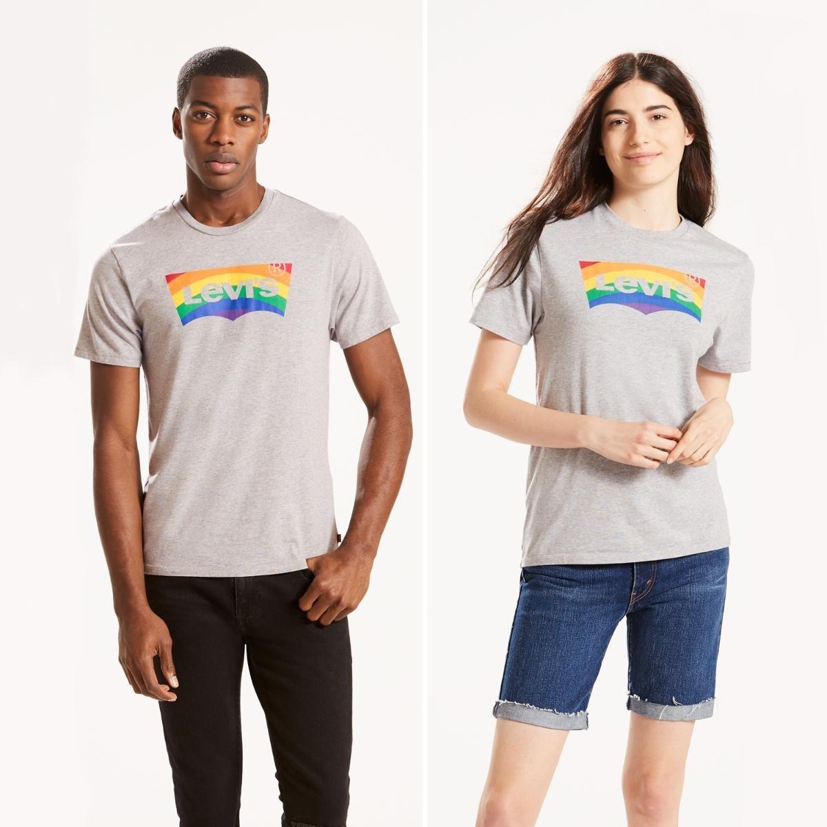 mejor elección precio moderado última venta Camiseta Levis Pride - Cinza