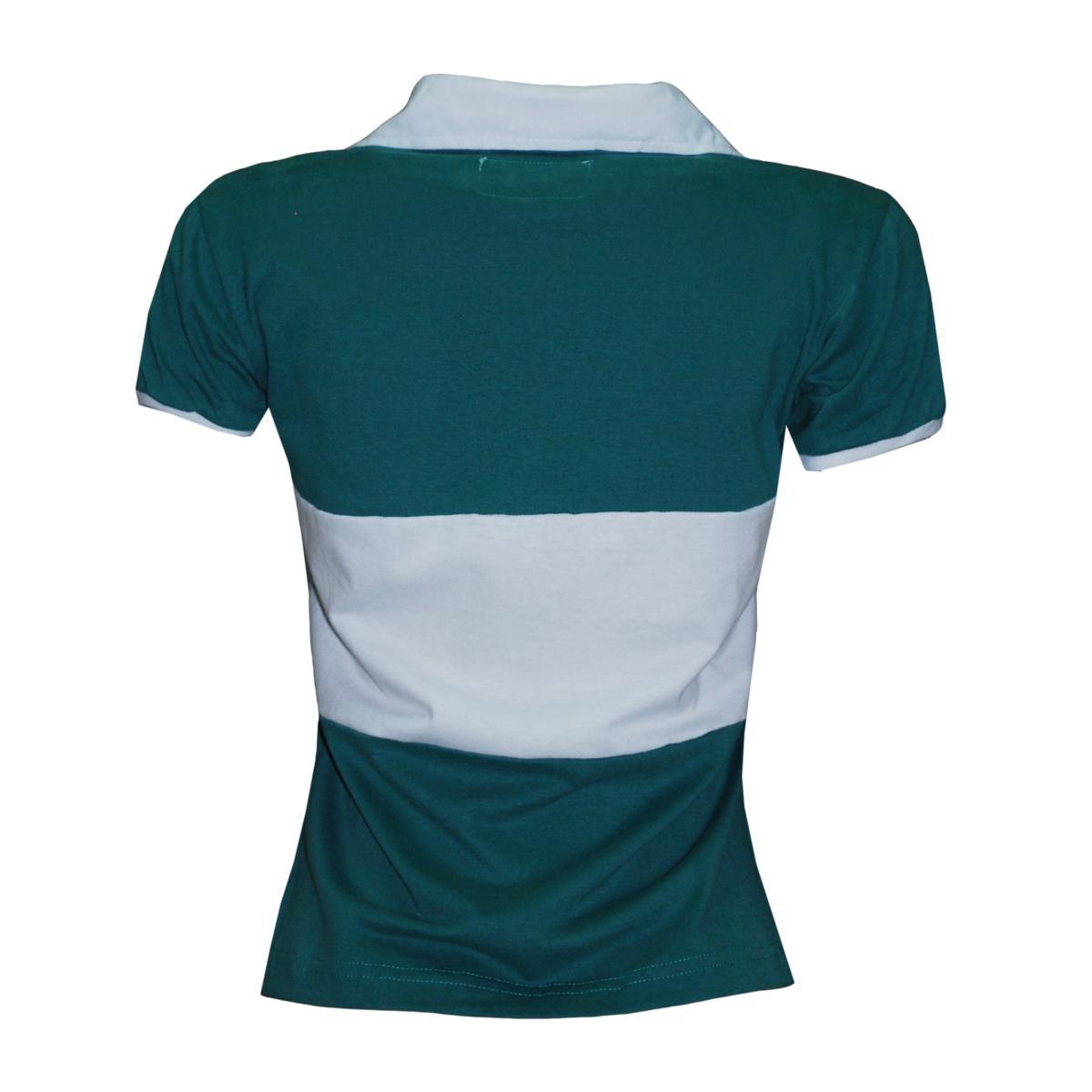 Verde Retrô Camiseta Brasil Rugby Camiseta Feminina Liga Liga gqnwU06