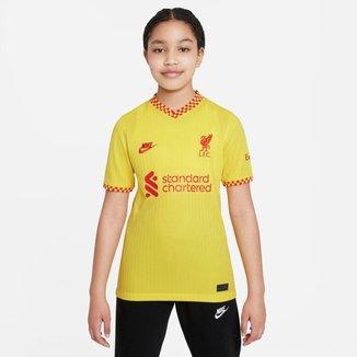 Camiseta Liverpool Nike 2021/22 Stadium Third Infantil