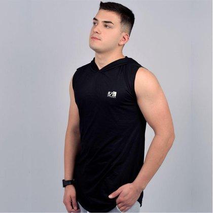 Camiseta Long Line Com Capuz BYG
