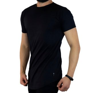 Camiseta Longline Com Barra  Arredondada C35