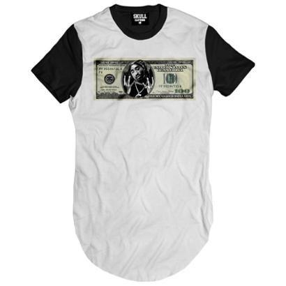 Camiseta longline Tupac Dollar Masculina
