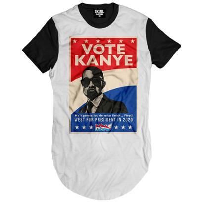 Camiseta Longline Vote Kanye West President Masculina