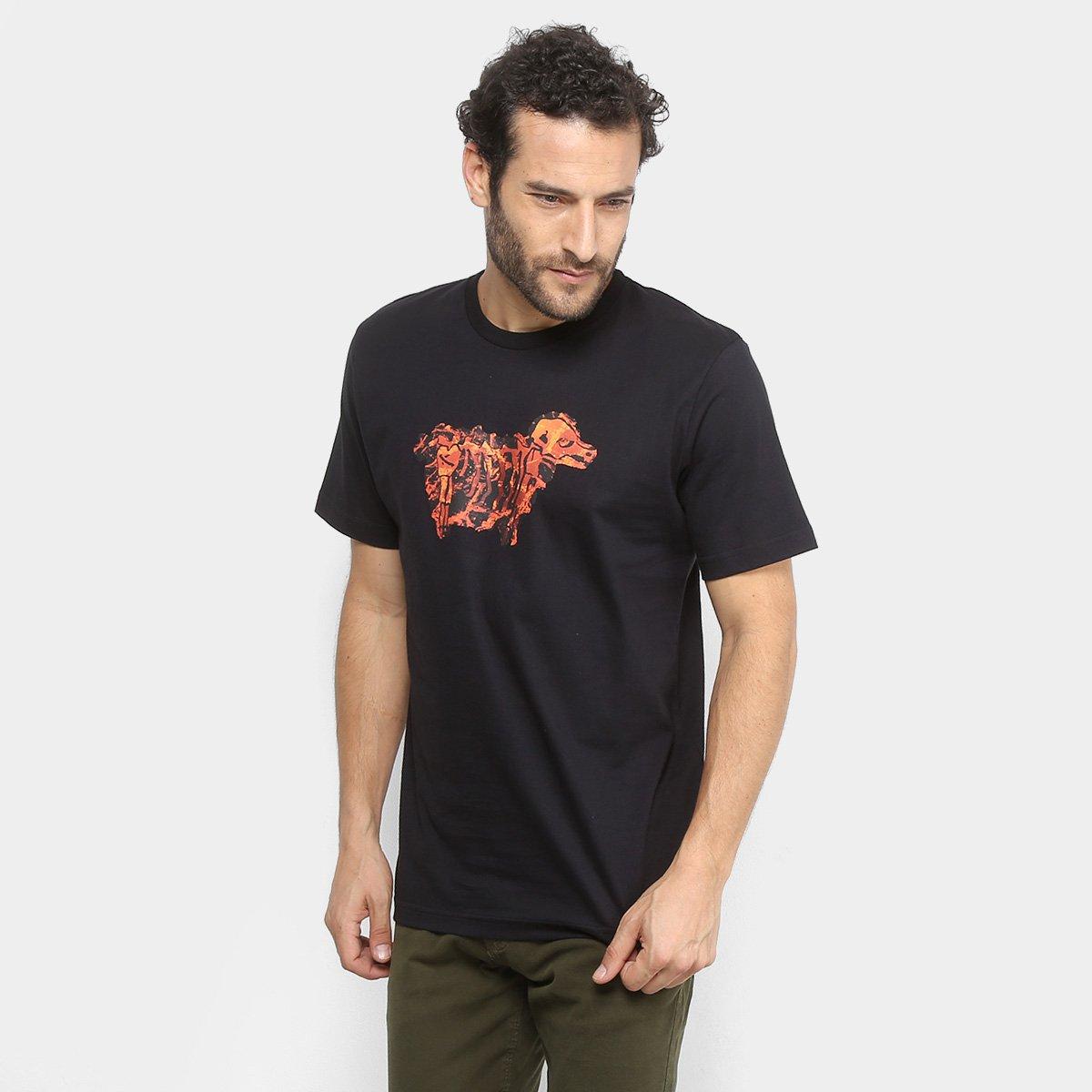 Camiseta Lost Lava Sheep Masculina - Preto - Compre Agora  990b72095d6d4