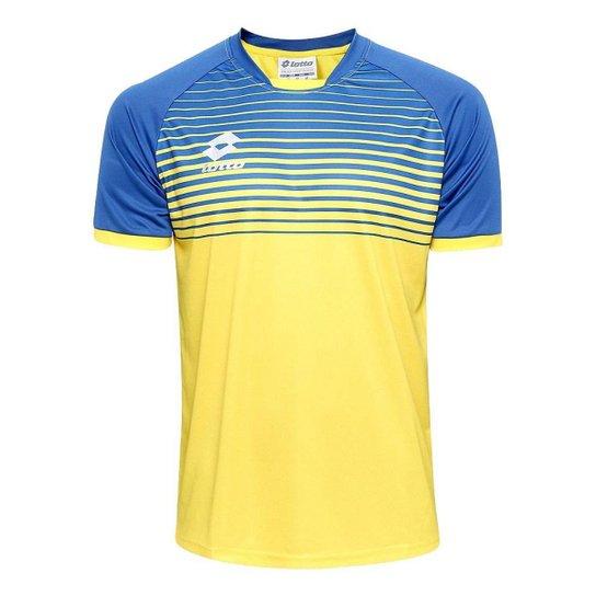 Camiseta Lotto Aspen - Azul+amarelo