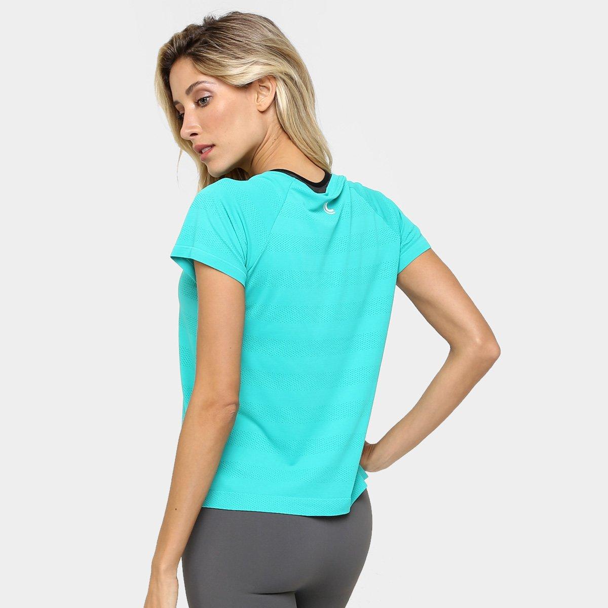 Feminina Lupo Camiseta Lupo Cropped Verde Sport água Camiseta X78qzqw