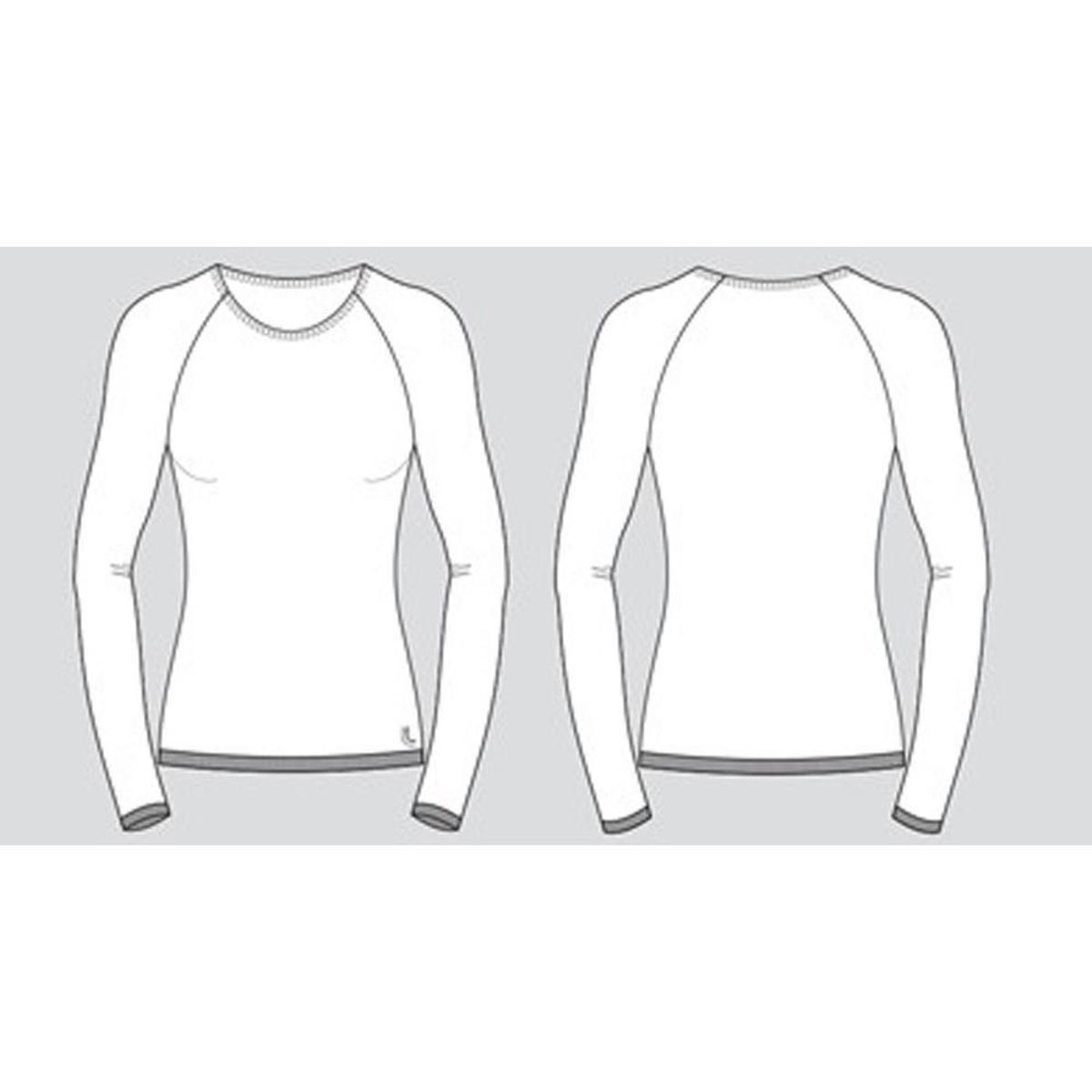 Camiseta Lupo Sport Térmica I-Core Manga Longa Feminina - Branco ... d9a1672068de6