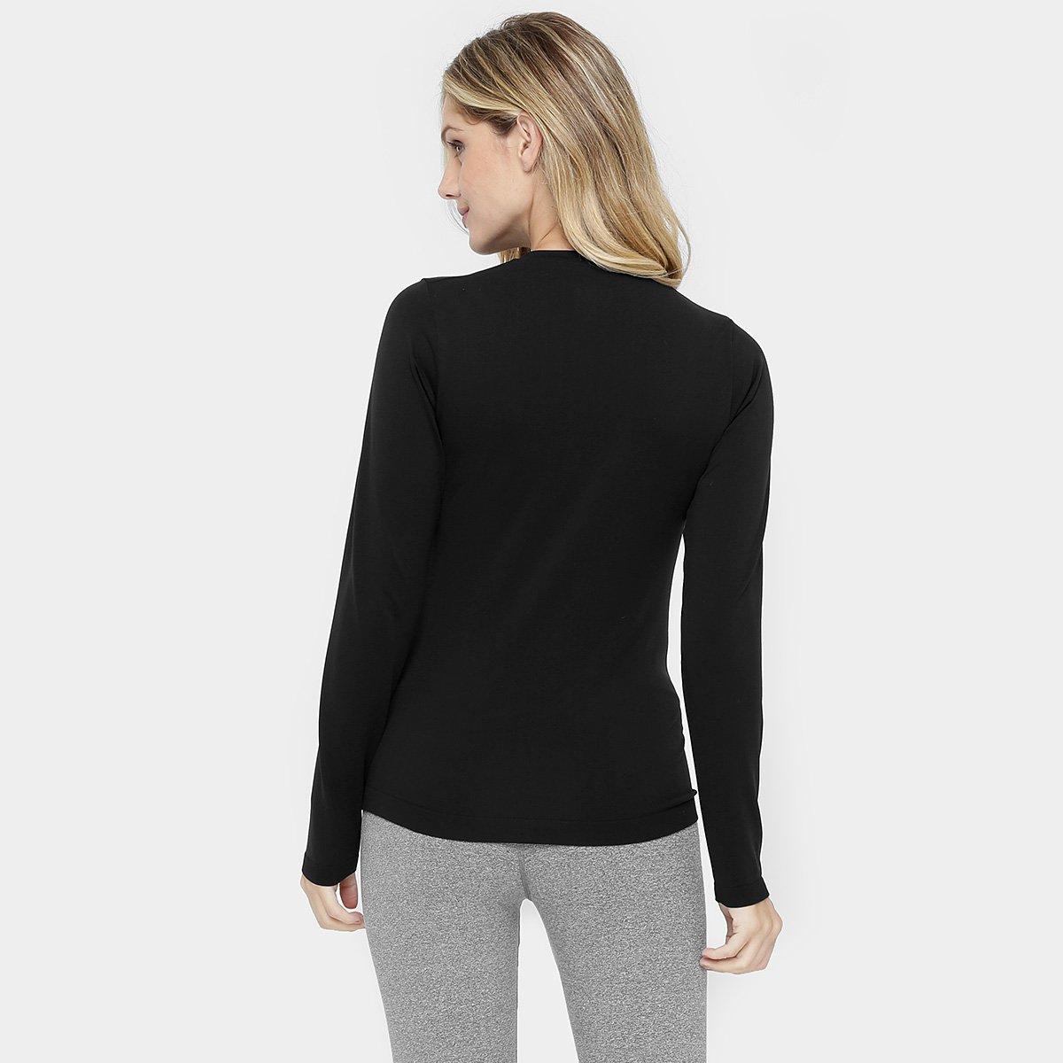 Camiseta Lupo Underwear Warm Manga Longa Feminina - Preto - Compre ... 3ea5a1d9cc478