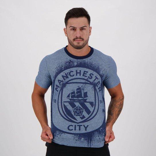 Camiseta Manchester City Fio Tinto Jackson - Azul