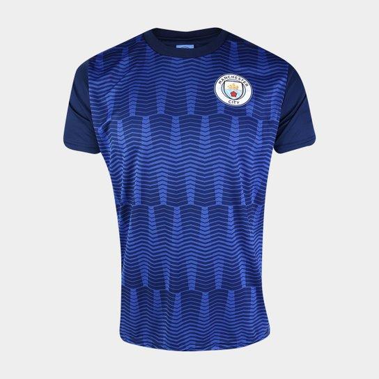 Camiseta Manchester City George Masculina - Marinho