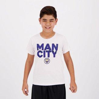 Camiseta Manchester City Juvenil   Masculina