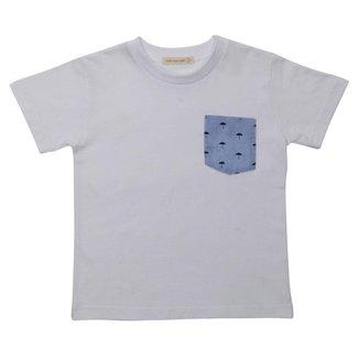 Camiseta Manga Curta Infantil Menino Fredie Mon Petit com bolso Boat.
