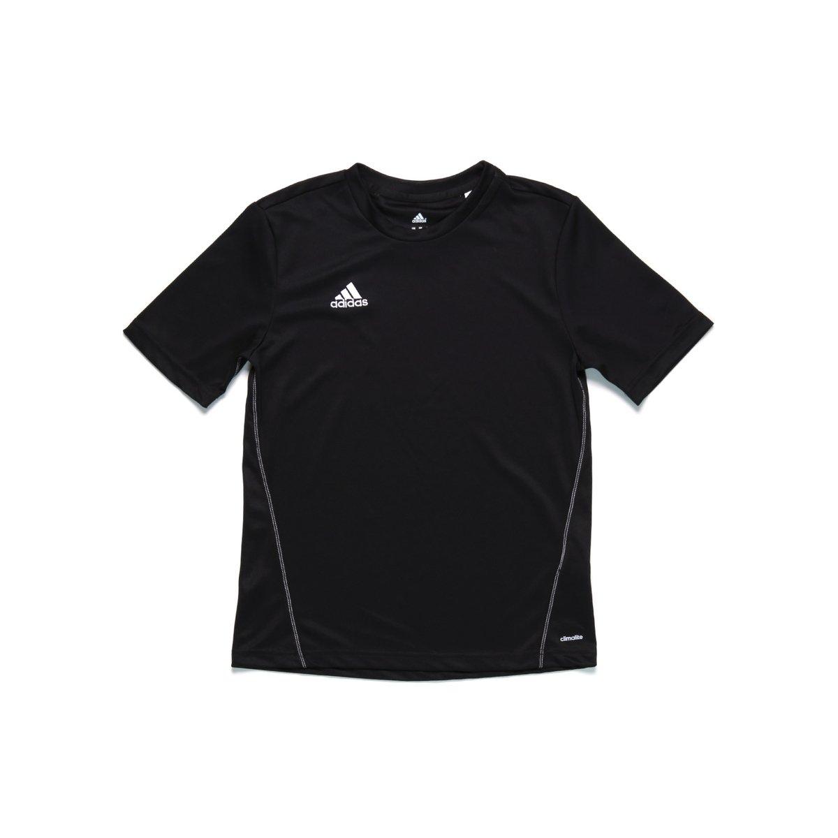 646adac64cc51 Camiseta Manga Curta Infantil Para Menino Adidas Treino Core Preto 13  -  Compre Agora