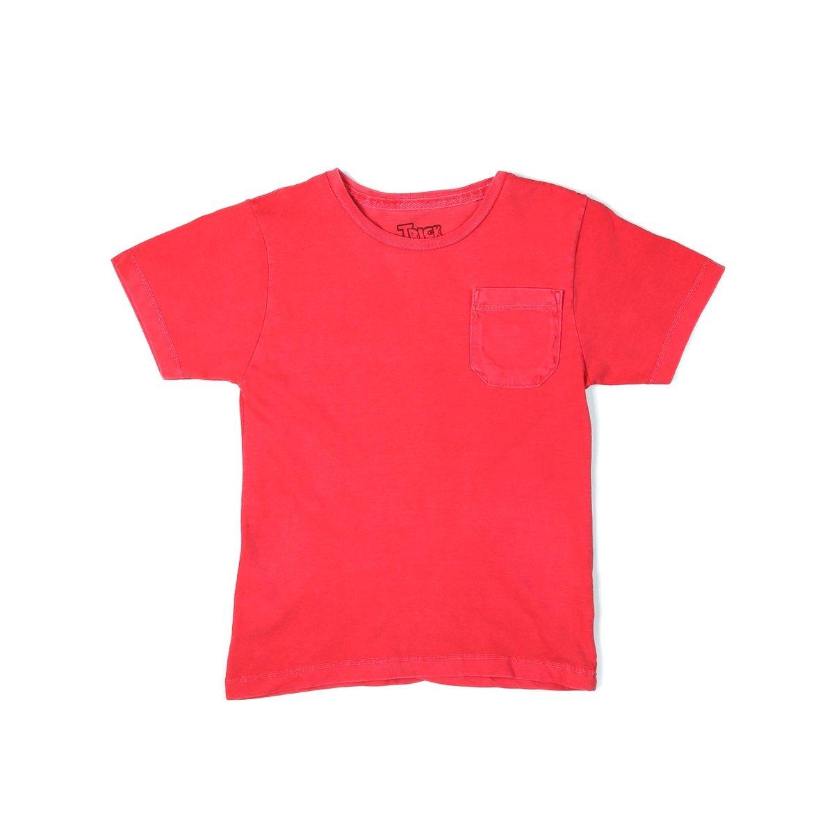 Camiseta Manga Curta Infantil Para Menino Vermelho - Compre Agora ... 8b1ac585918f9