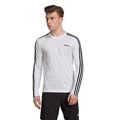 Camiseta Manga Longa Adidas D2M Clima 3S Masculina