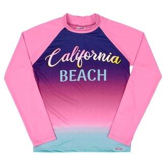 Camiseta Manga Longa Com Fator de Proteção Infantil Feminino Marlan Califórnia Beach
