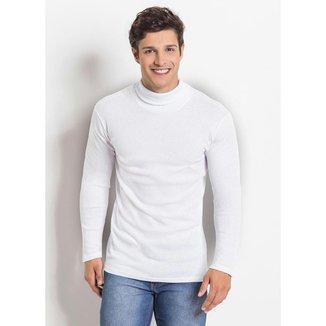 Camiseta Manga Longa Gola Rolê Preta