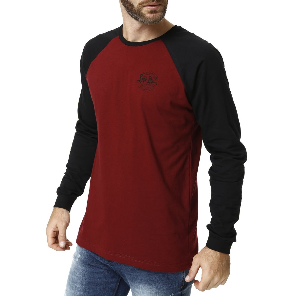 Camiseta Manga Longa Masculina - Compre Agora  136b1c47fe2