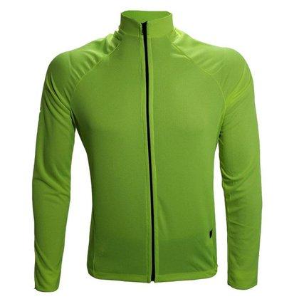 Camiseta manga longa para ciclismo lisa