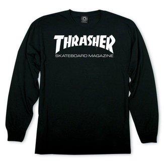 Camiseta Manga Longa Thrasher Magazine Skate Mag