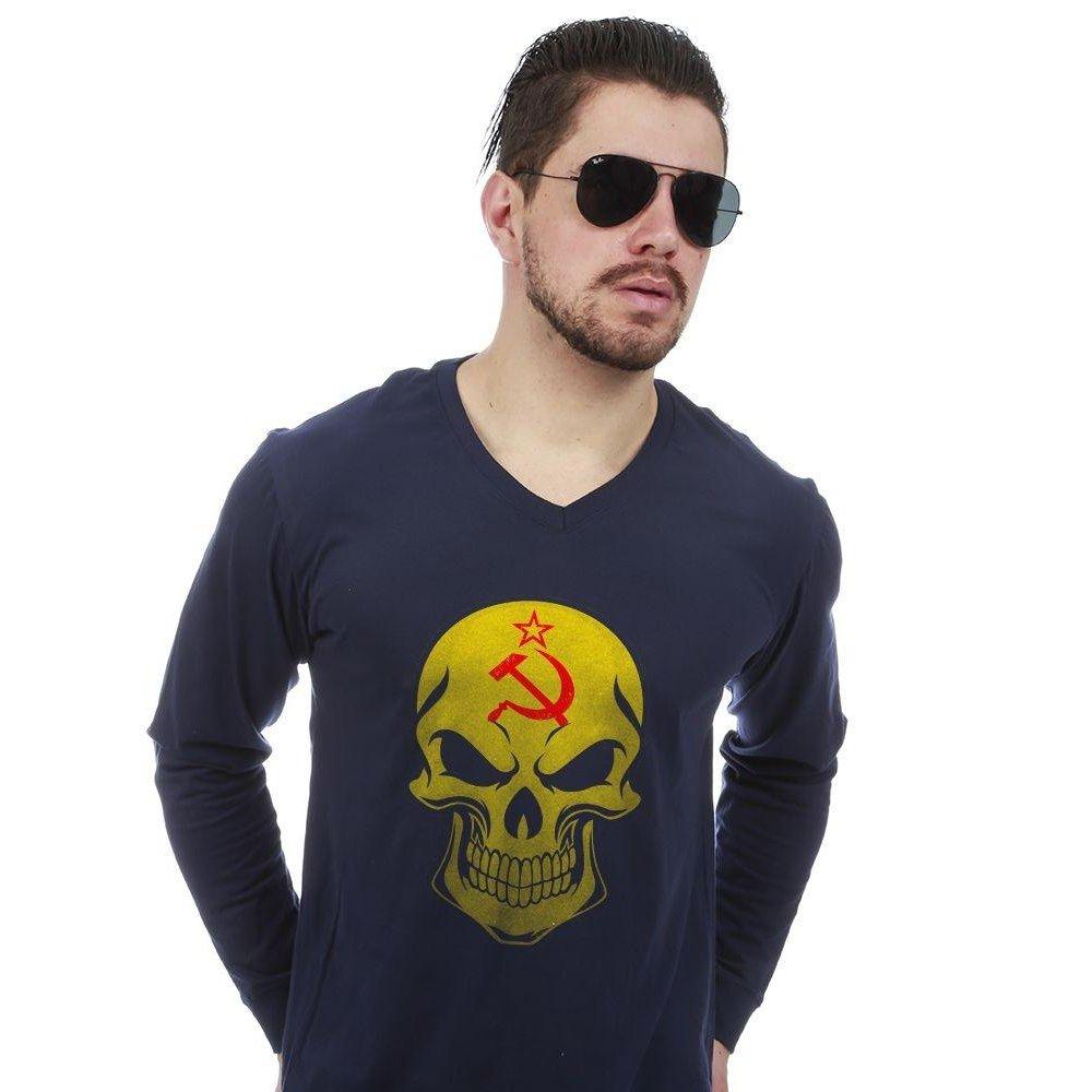Camiseta Manga Longa União Soviética - Compre Agora  065f675654b7c